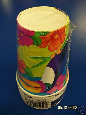 Amscan Birds Of Paradise Luau Party 9 Oz. Paper Cups • 1.42£