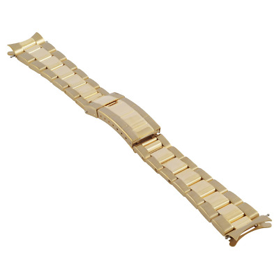 $ CDN53.56 • Buy Oyster Watch Band For Rolex Daytona Submariner Gmt Watch 20mm Bracelet Gold Gp