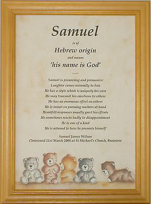 Personalised Name Meaning First Holy Communion Gift • 3.50£