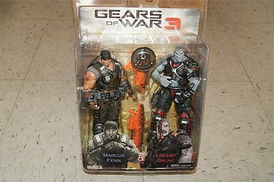 $79.98 • Buy Gears Of War 3 Marcus Fenix & Locust Grunt  Flaming Lancer Hammerburst 7  Figure