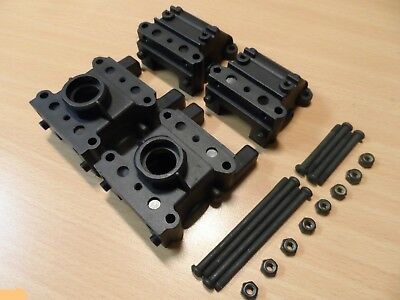 New Ansmann 'Virus 2'/'Terrier 2' Front+Rear Diff/Gearbox Case Spares 115000202 • 7.99£
