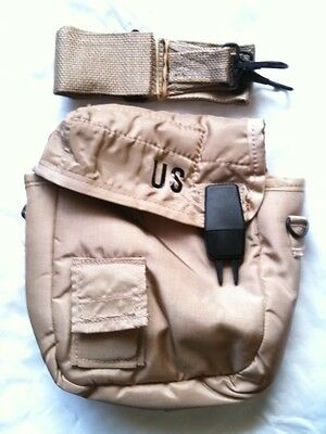 $ CDN12.81 • Buy Official Military Army Collapsible Camping Canteen 2 QT Cover Pouch Sling Tan