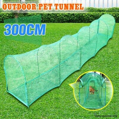 AU89.95 • Buy Deluxe Outdoor Foldable Pet Cat Walk Run Training Dog Tunnel Easy Net Fence