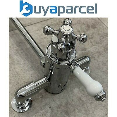 £64.99 • Buy Traditional Thermostatic Dual Control Exposed Shower Mixer Valve - 150mm Centres