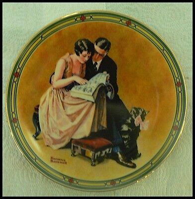 $ CDN7.46 • Buy Edwin M Knowles Norman Rockwell Plate   A Couples Commitment