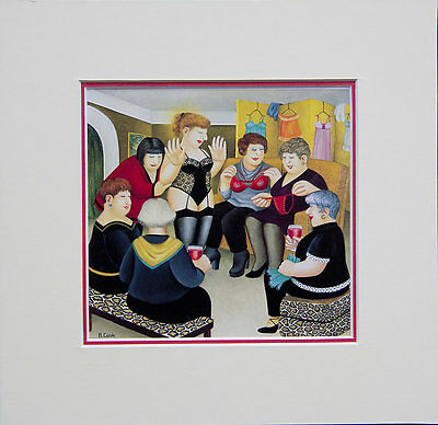 Beryl Cook Party Girls. Mounted Print • 14.95£