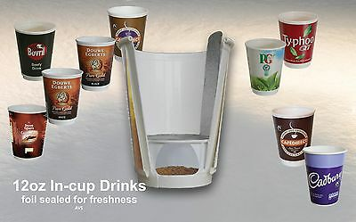 £59.49 • Buy 12oz Fresh Seal In Cup Drinks Full Range Vending Catering Nescafe 2GO Incup X150