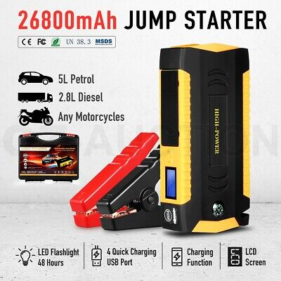 AU109.95 • Buy 12V Jump Starter Battery Charger Car Vehicle Booster Power Bank 600A 26800mAh