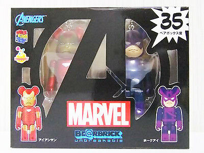 $39.99 • Buy New~ Medicom #35 Spider-Man Avengers Iron Man & Hwakeye Box Be@rbrick Bearbrick