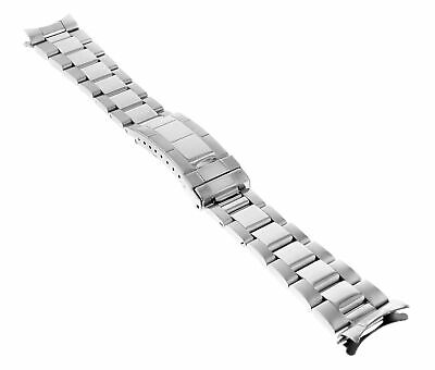 $ CDN48.19 • Buy 20mm Oyster Watch Band Bracelet For Rolex Submariner Shiny Center Flip Lock Tq