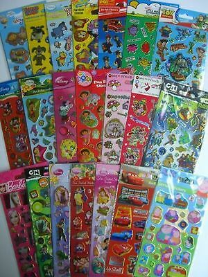 Official Licensed CHARACTER Fun Foiled STICKERS - Birthday Xmas Gift Party Bag • 1.39£