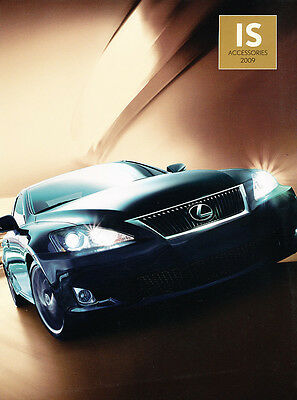 2009 Lexus IS IS300 IS200 Dealer Accessories Sales Brochure Catalog • 4.88£