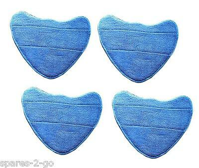 4 X Vax S2 S2S S2ST Microfibre Cleaning Pads - Hard Floor Pro Steam Cleaner Mop • 9.29£