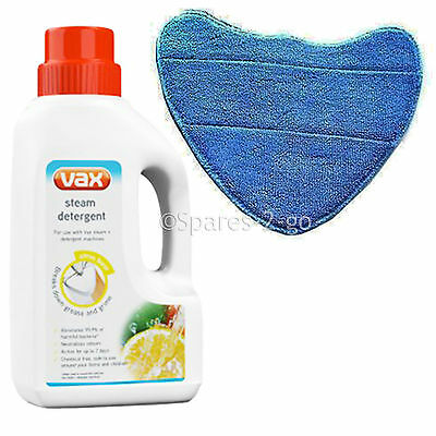 Vax Steam Detergent Solution & Microfibre Cleaning Pad For Steam Cleaner Mops • 12.25£