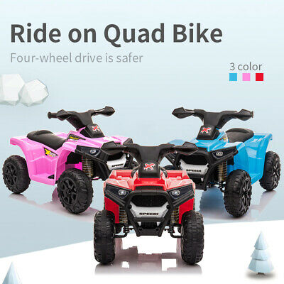 Kids Battery Powered Electric Ride On Quad Bike ATV Outdoor Children Toddler Toy • 44.99£