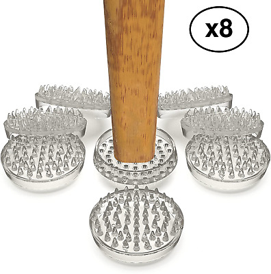 £7.45 • Buy Clear Carpet Protector Furniture Cups X 8 Large Strong Heavy Duty Floor Mat
