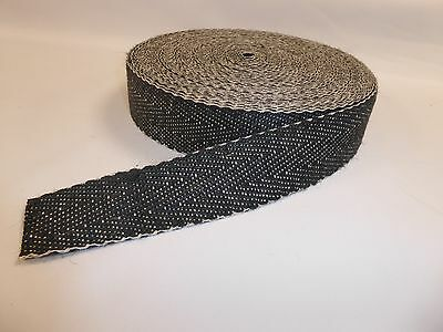 £6.49 • Buy UPHOLSTERY WEBBING - BLACK & WHITE  For Seats & Furniture (1m To 33m)
