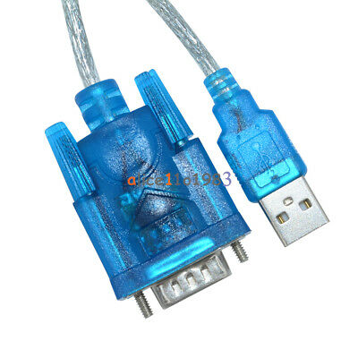 AU2.27 • Buy USB To RS232 Serial Port 9 Pin DB9 Cable Serial COM Port Adapter Convertor Blue