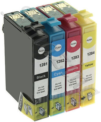 Compatible Multipack 4 Ink Cartridges For Epson T1285 Printers Stylus S22 SX125 • 7.49£