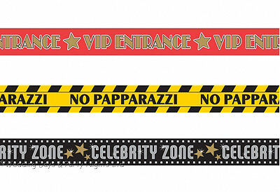 £4.59 • Buy 3 30ft Rolls Hollywood Party Tape VIP Banner Birthday Prom Wall Door Decorations