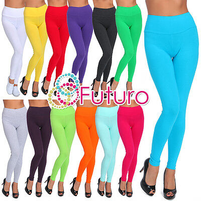 £6.45 • Buy Full Length High Waist Leggings Genuine Cotton And Lycra All Sizes & Color LWPY