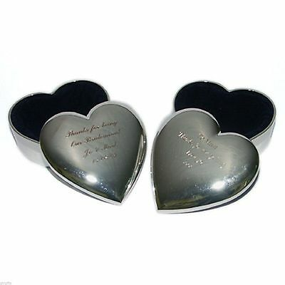 £11.99 • Buy Silver Plated Heart Shaped Trinket Box FREE ENGRAVING