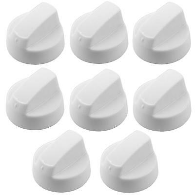 8 X INDESIT White Oven Cooker Hob Flame Burner Hotplate Control Switch Knobs • 12.29£