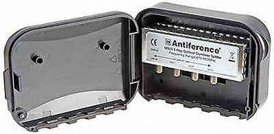 Antiference Outdoor Or Masthead 3 Way Aerial Splitter UHF TV Freeview • 13.65£