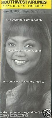 $11.16 • Buy Airline Timetable - Southwest - 11/06/00 - Customer Service Agent