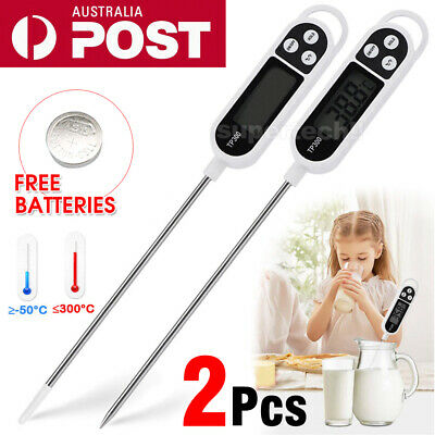 AU10.95 • Buy 2X New Digital COOKING FOOD MEAT KITCHEN THERMOMETER MEAT Stab PROBE TEMPERATURE