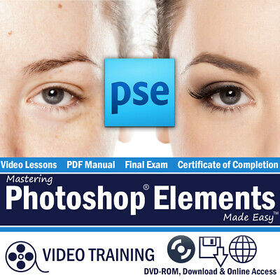 £10.89 • Buy Learn Adobe PHOTOSHOP ELEMENTS 12 11 Training Tutorial DVD-ROM Course 8 Hours