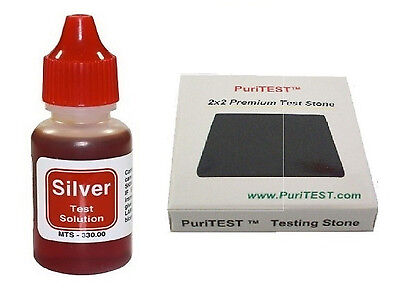 New Silver Testing Kit Silver Acid Test Liquid With Stone • 7.66£