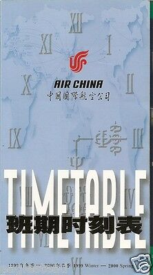 $10.36 • Buy Airline Timetable - Air China - Winter 99 00