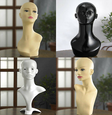 Professional Female Mannequin Head High Quality Display Wigs Gloss White Head UK • 21.99£
