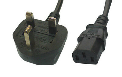 3M IEC C13 Mains Power Cable UK 3 Pin Plug • 5.95£