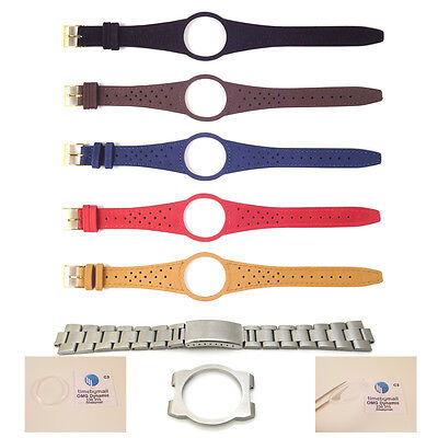 New Mens Watch Strap Band For OMEGA DYNAMIC Leather Replacement Gold Buckle S15 • 17.99£