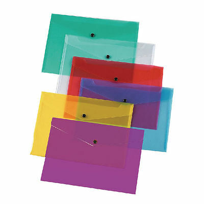 £4.95 • Buy Stud Closing Plastic Folders Wallets A5,a4,a3 Choice Of Colours