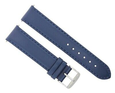 $ CDN37.27 • Buy 18mm Smooth Leather Watch Band Strap For Seiko 5 Diver Snk 793 809 Watch Blue