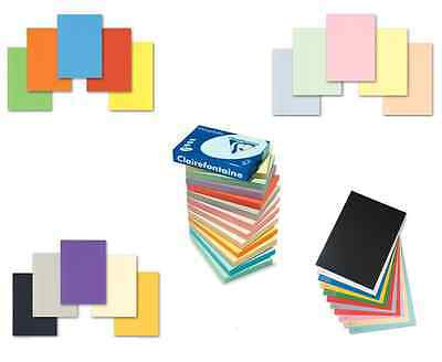 A4 TOP QUALITY 160gsm CLAIREFONTAINE COLOURED CRAFT PRINTER COPIER HOBBY CARD • 25.99£