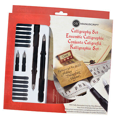 Manuscript Calligraphy Masterclass Pen Gift Set With Nibs Ink & Guide Book • 12.95£