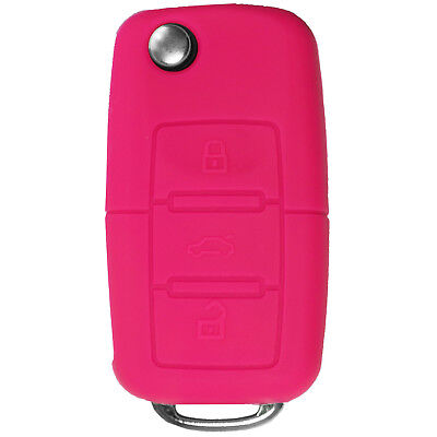 $7.75 • Buy Protective Silicone Remote Key Fob Cover For VW Volkswagen NBG KR55 Pink