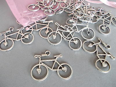 20 X Bicycle, Bike,cycle Antique Silver Tibetan Metal Charms/pendants • 2.99£