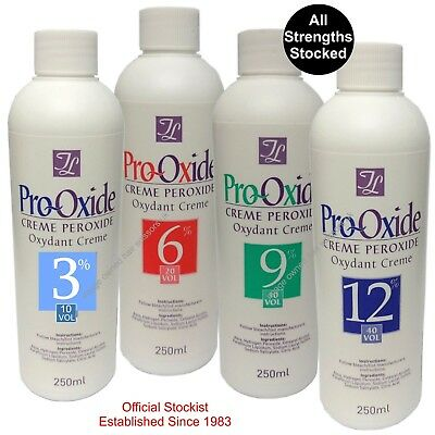 Pro-Oxide Peroxide Creme Hair Colours Dyes Bleach 250ml Choose From 3% 6% 9% 12% • 7.95£