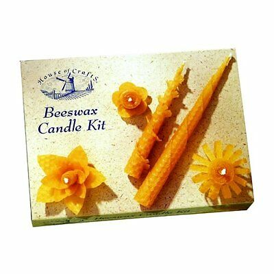 £8.95 • Buy Natural Bees Wax Rolled Candle Making Starter Kit House Of Crafts Gift Set Mk002