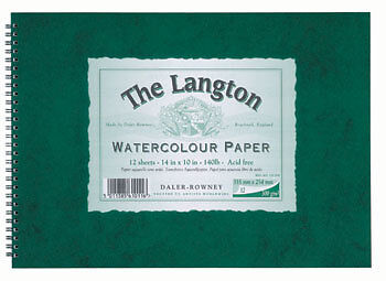 Daler Rowney Langton 7x10in Watercolour Paper Pad 300gsm Not • 12.17£