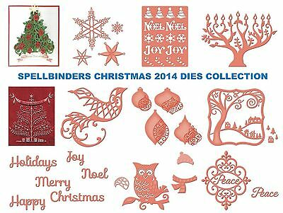 Spellbinders Christmas Collection Dies New 2014 3d Tree & More Universal Fit • 12.70£