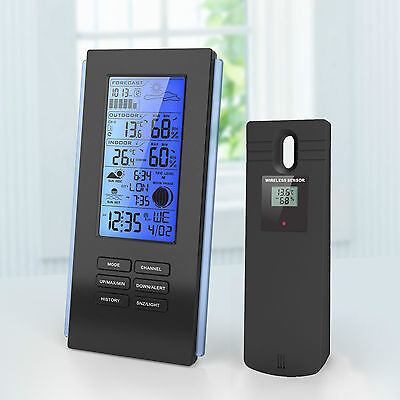 Blue LED Wireless Weather Station & Sensor Temperature Humidity Barometer RCC • 23.95£
