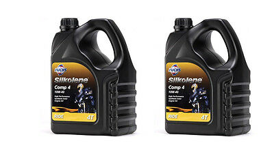 4 LITRES SILKOLENE COMP 4 SYNTHETIC 15W 50 4 STROKE MOTORCYCLE OIL X2 (8L) • 74.99£