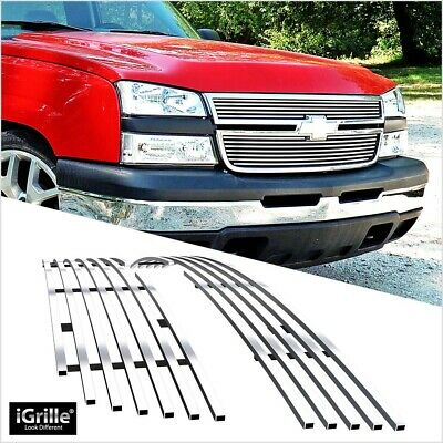 $72.99 • Buy Fits 2006 Chevy Silverado 1500/05-06 2500HD/3500 Main Upper Chrome Billet Grille