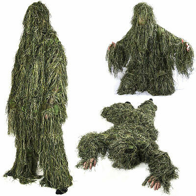 Nitehawk Adults Military 3D Woodland Camouflage Military Hunting Ghillie Suit • 36.99£